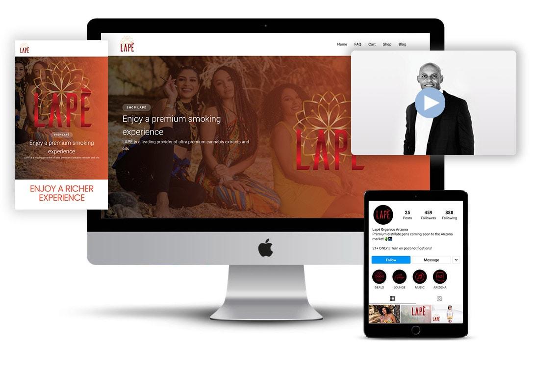 QCM Agency client LAPE organics