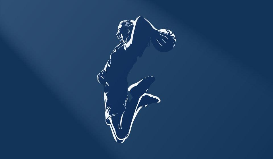 QSports basketball graphic